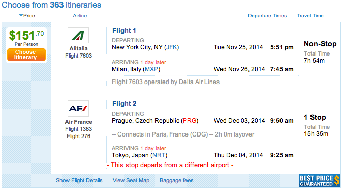 Fare Glitch! Fly LAX or NYC to Milan for $150 or Tel Aviv for $245!