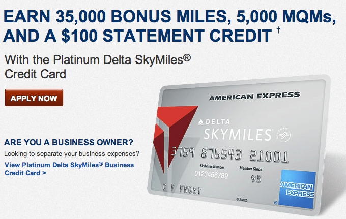 American Express Platinum Delta SkyMiles® Credit Card – Earn Up To 25,000 Elite Qualifying Miles!