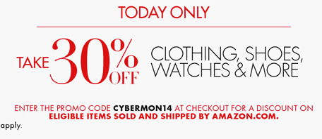 *Cyber Monday* 30% off at Amazon! (Eligible Items)