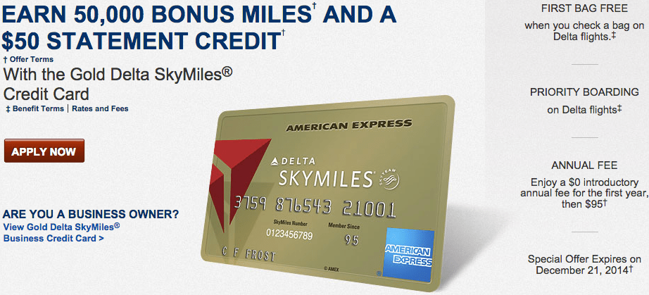 Targeted: Increased 50K Delta Amex Offer