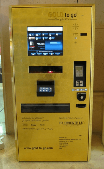 Get your gold to go at one of the UAE's gold ATM's