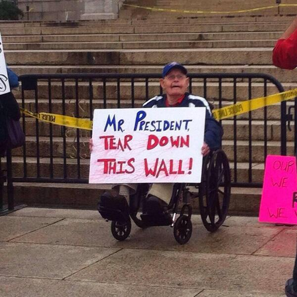 Mr. President: TEAR DOWN THIS WALL!