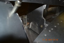 Closer view of the vertical tail mounting bracket