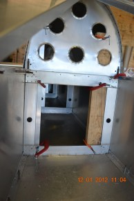 Views of the rudder cable guides - these are simple snap bushings