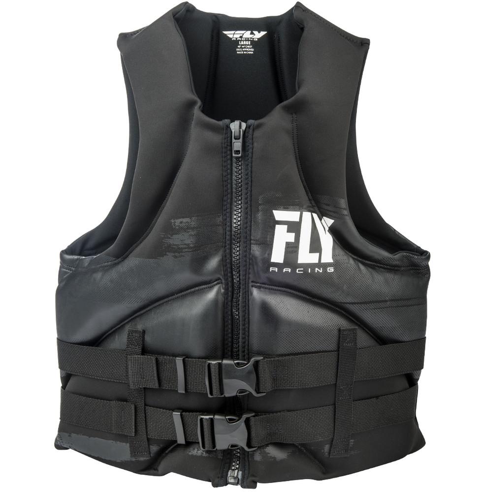 Men' Neoprene Black Life Vest Fly Racing Motocross