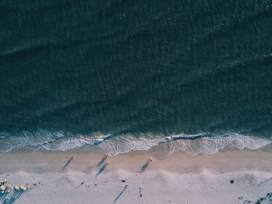 Aerial view of Bali beach club