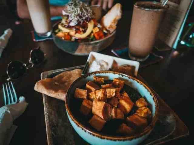 Healthy vegan food at KAFE in Ubud, Bali