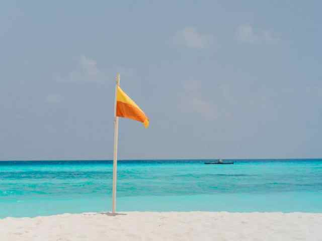 Stunning white sand beaches and turquoise lagoons in the Maldives