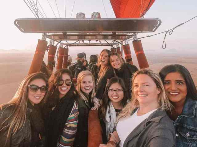 Hot air ballooning is one of the best experiences for a luxury girls getaway in Morocco.