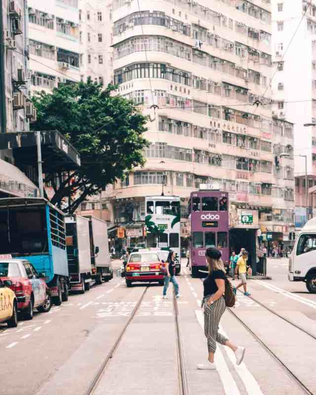 Streets of Hong Kong with Tram