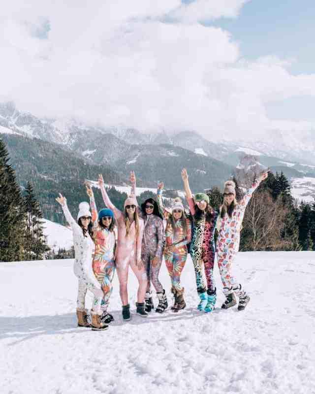 Ski girls getaway, Austrian Alps