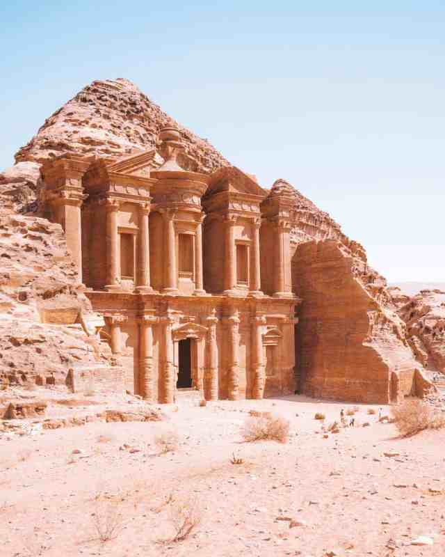 The Monastery at the Lost City of Petra, Jordan