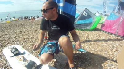 Tom setting up at National Watersports Festival