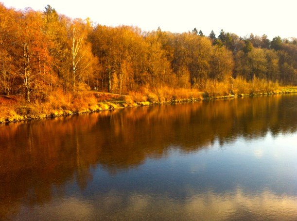 The golden Isar glow.