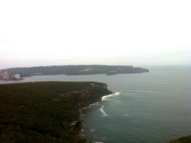 The view of Manly heads with a little cloud cover