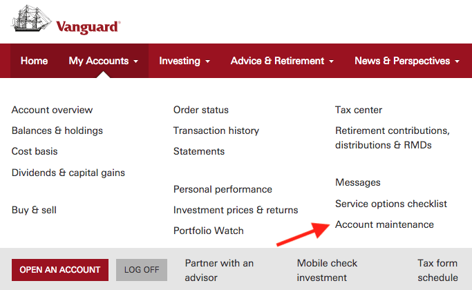 vanguard personal investment accounts