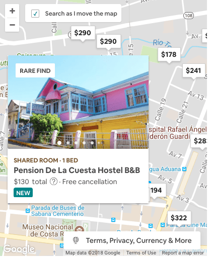 Airbnb Hostel from Search Example