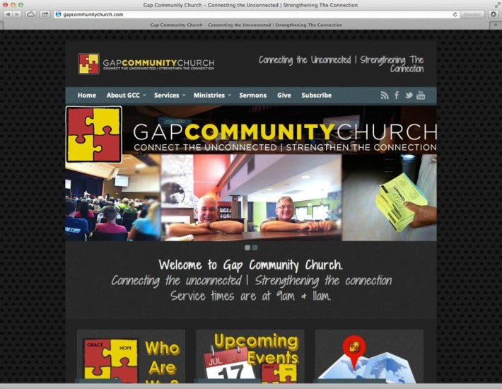 GCC Homepage Screencap