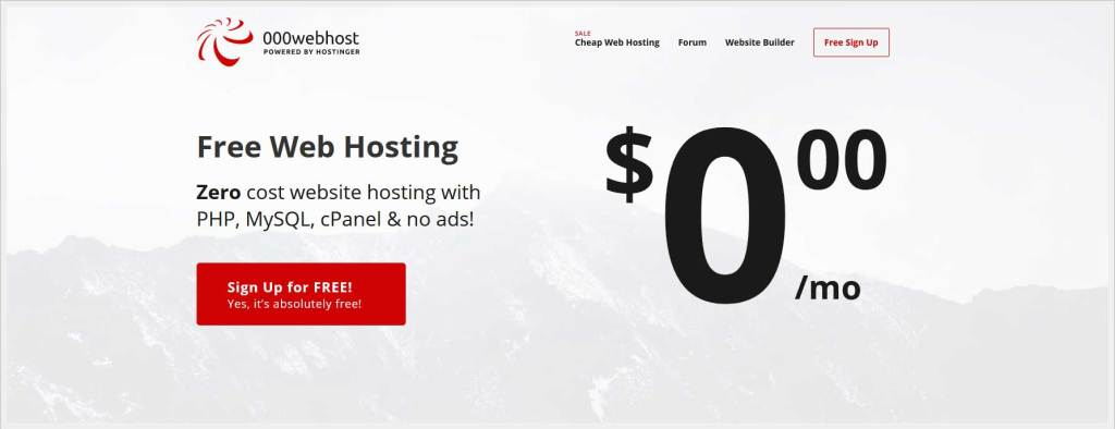 000Webhost.com - free wordpress hosting