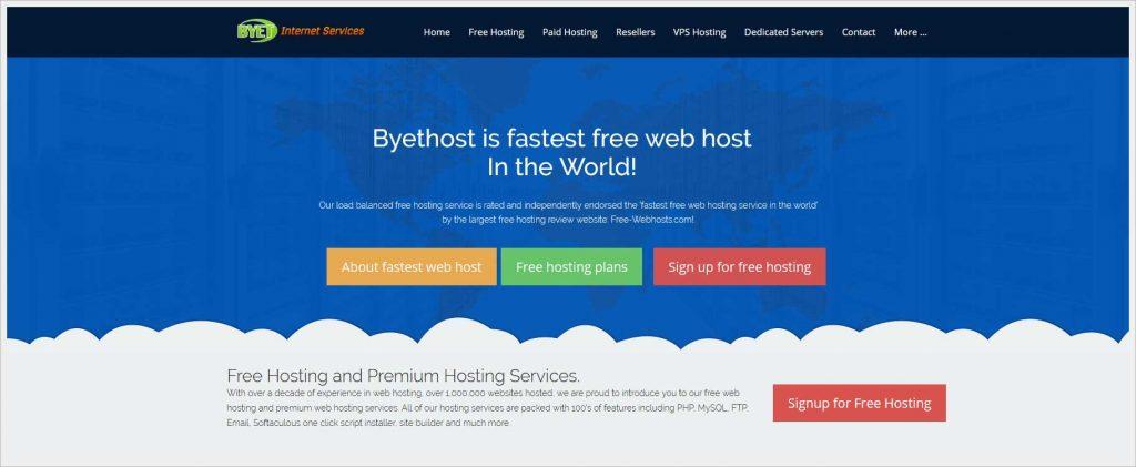byet.host - free wordpress hosting