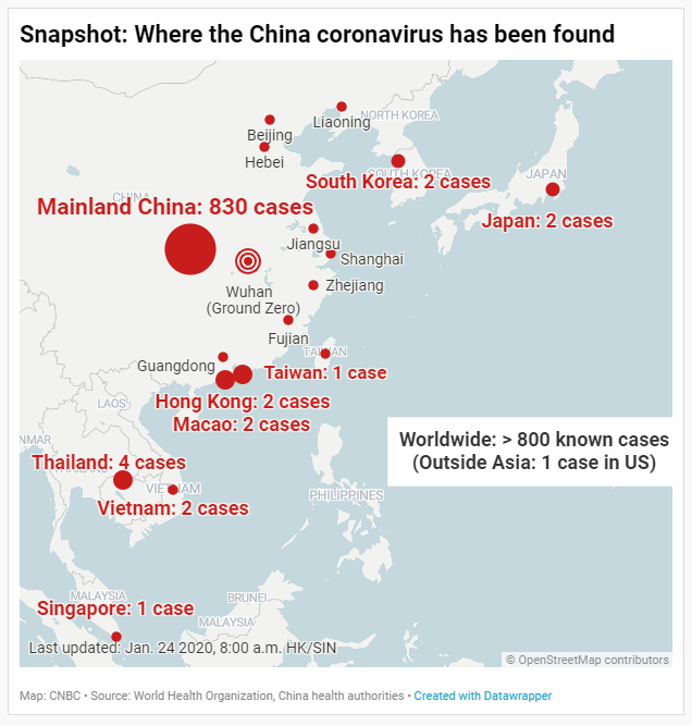 China coronavirus: Confirmed cases and where they are