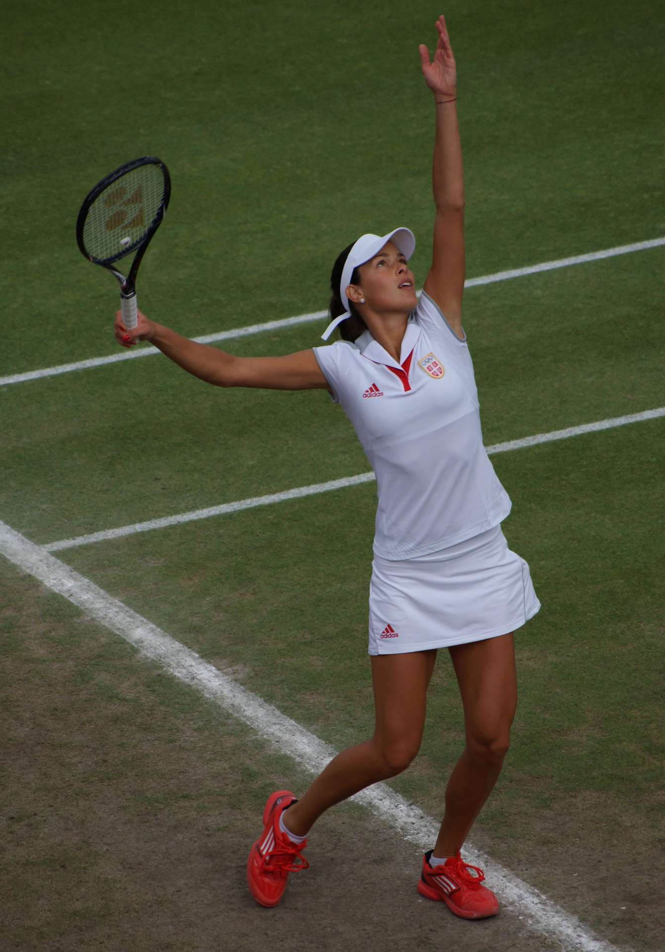 Ana Invanovic playing tennis
