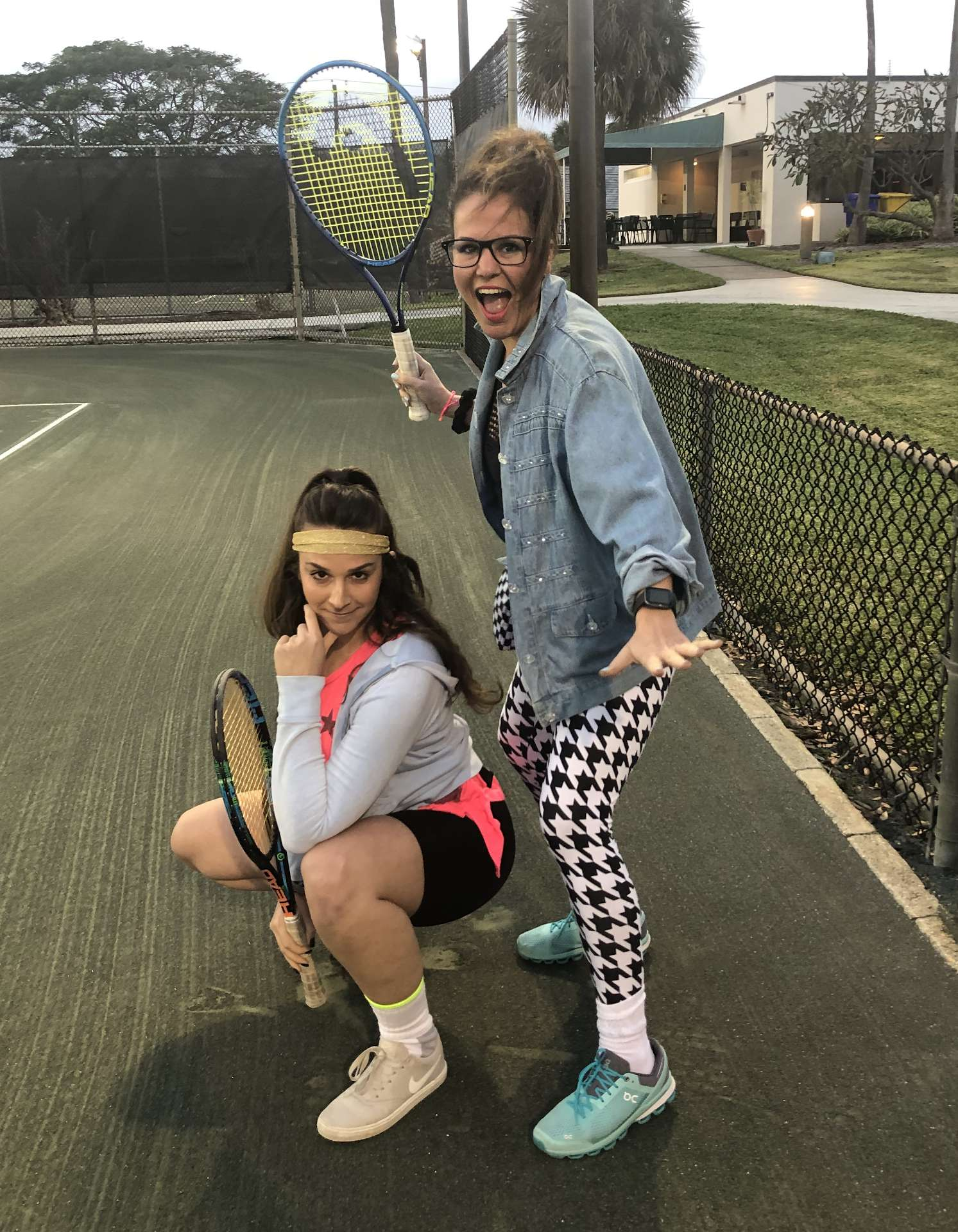 80s tennis night at Millennial Tennis