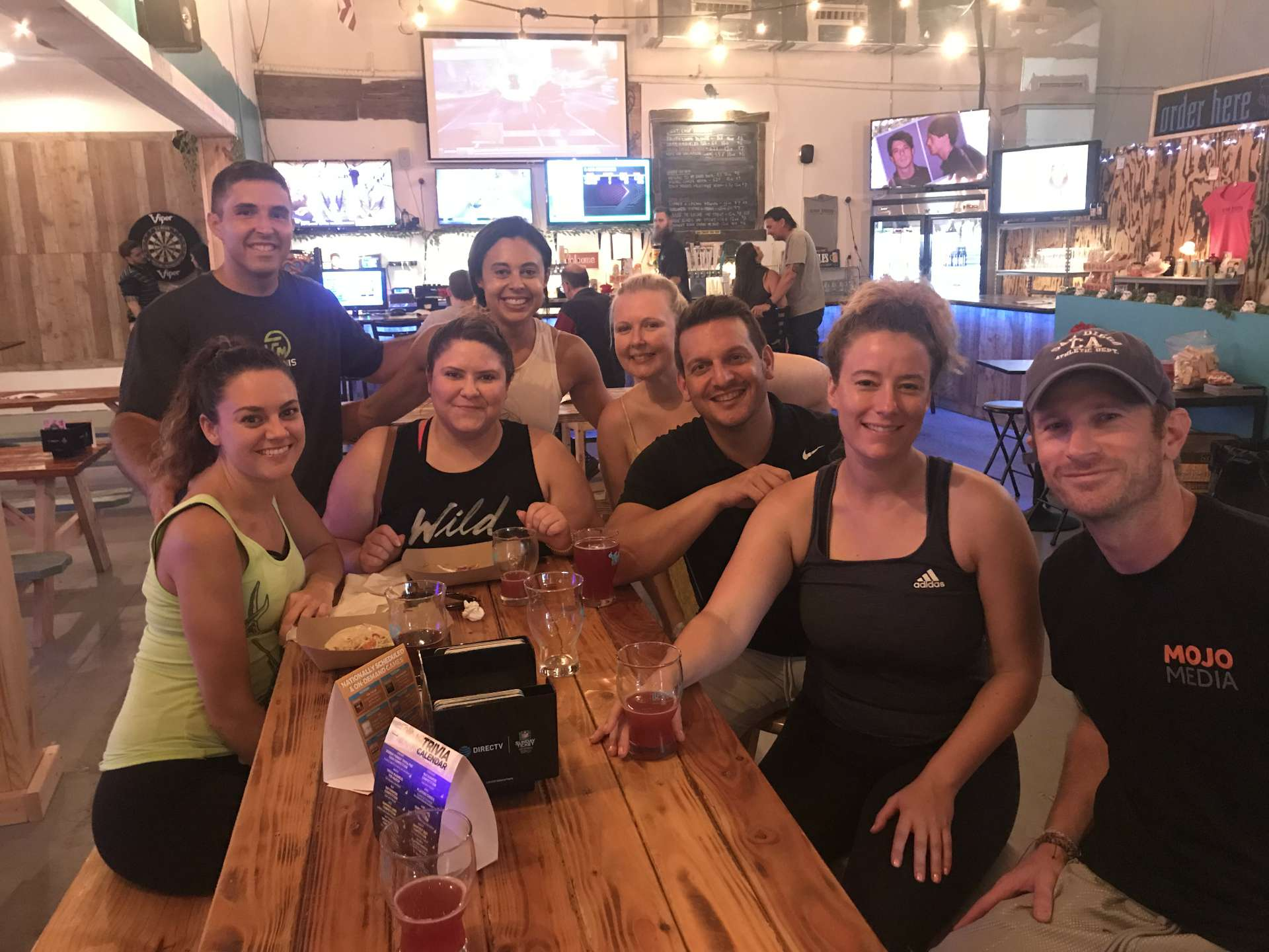 Millennial Tennis players at Devour Taphouse