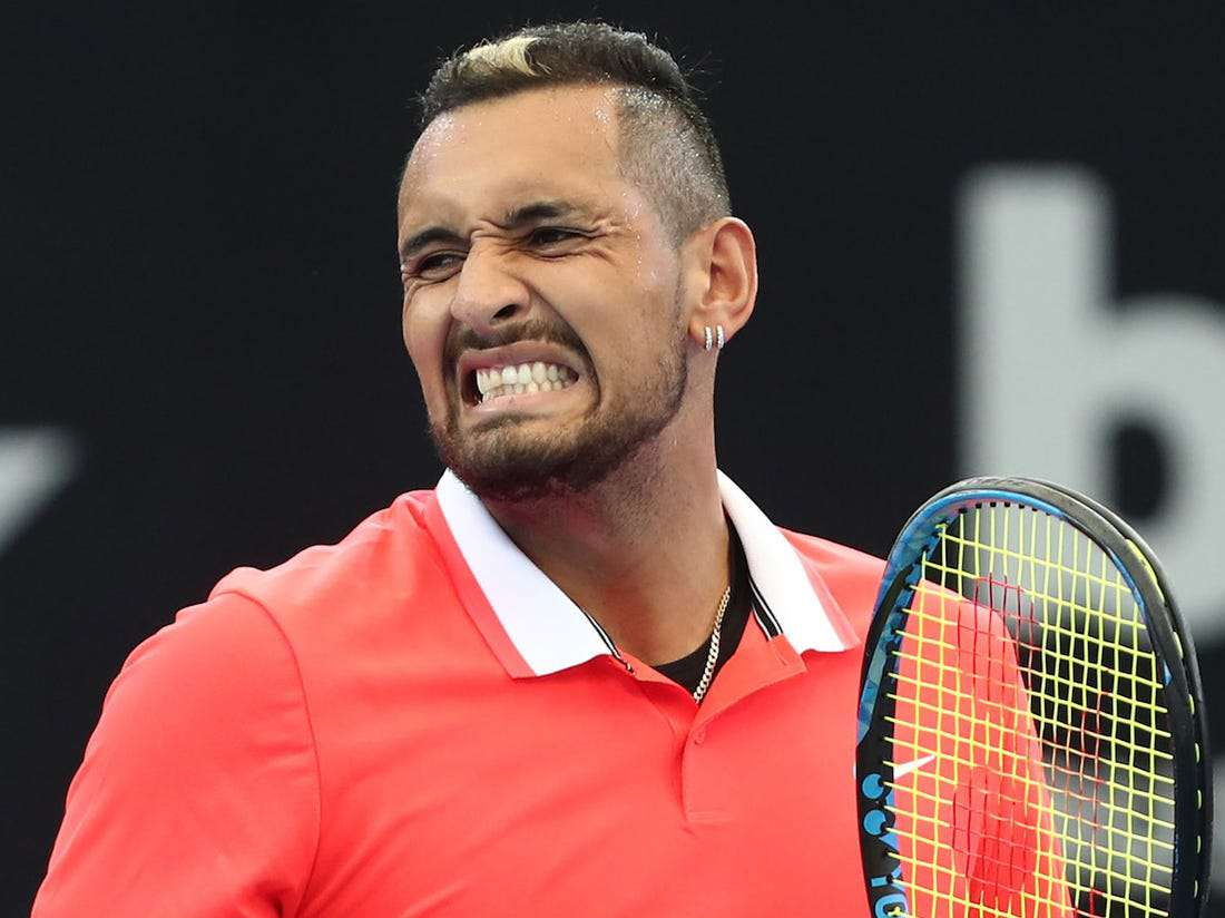 Nick Kyrgios playing tennis