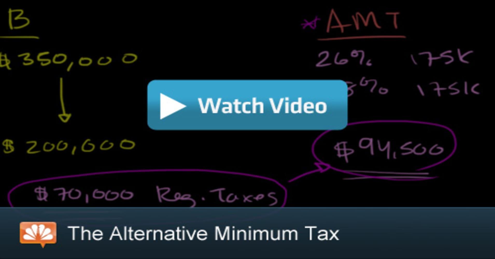 Calculating The Alternative Minimum Tax Cnbc Explains