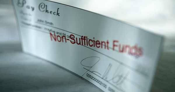 Non Sufficient Funds Check