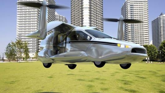 Artist's rending of Terrafugia's TF-X flying car.