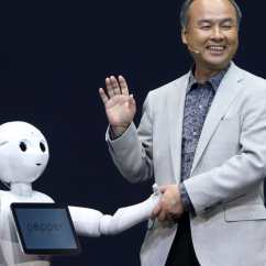 Executive Chairman Vs Ceo Stand Up High Chair Masayoshi Son Of Softbank Robots Will Have An Iq