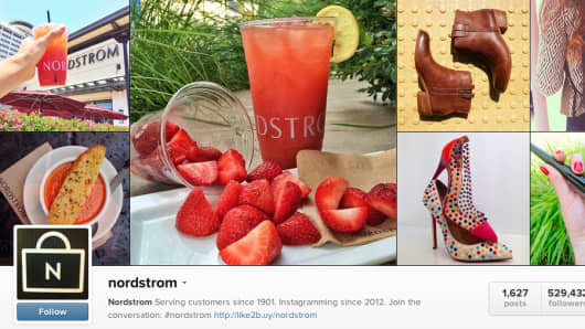 Nordstrom's Instagram page.