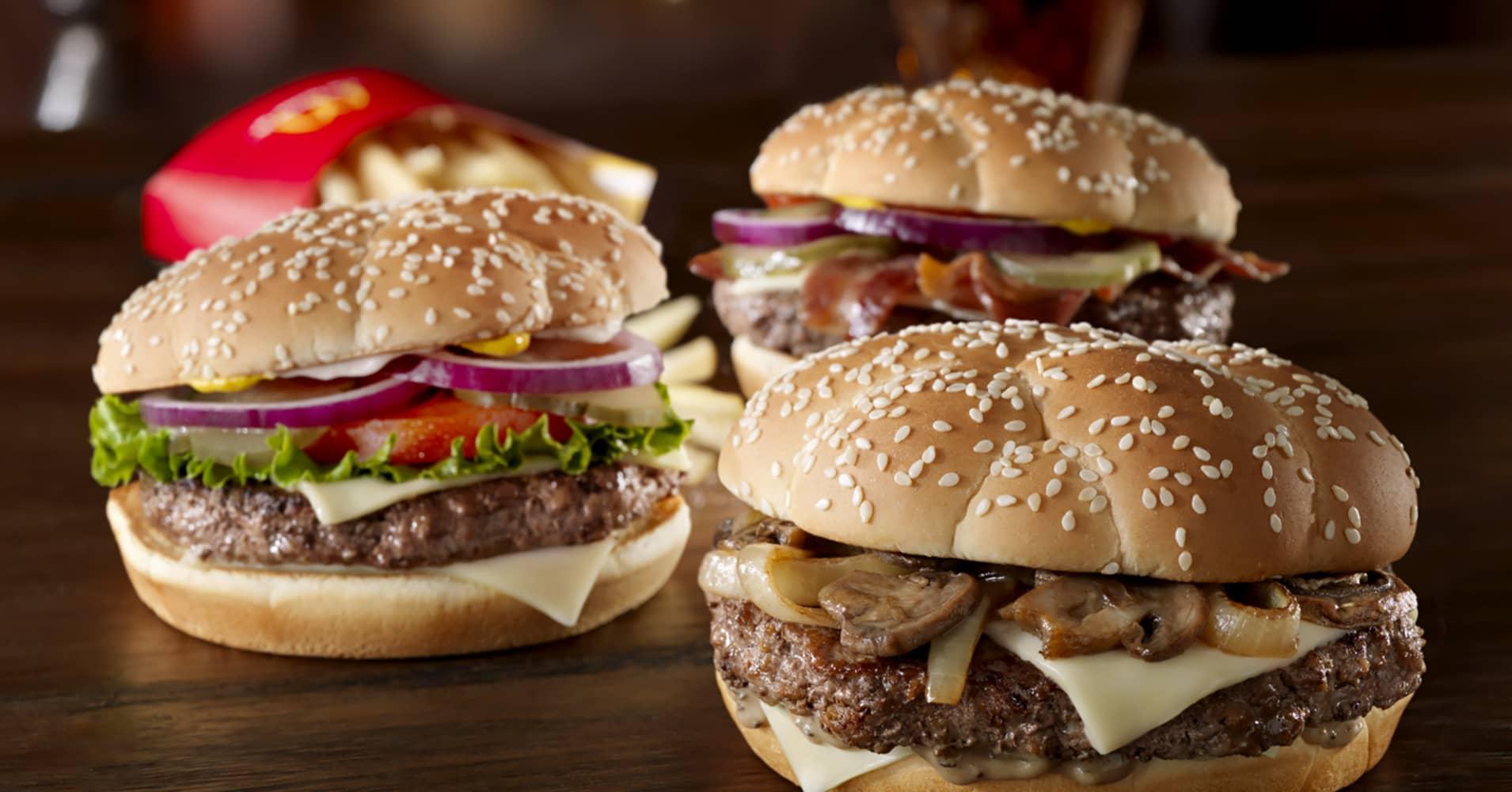 Fast Food Restaurants 100 Beef
