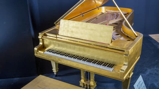 Elvis Presley's Most Significant Gold Leaf Piano from Graceland