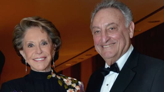 Joan Weill and Sandy Weill ttend the New York Philharmonic's Year of the Dragon gala at Avery Fisher Hall in New York, U.S., on Tuesday, Jan. 24, 2012.