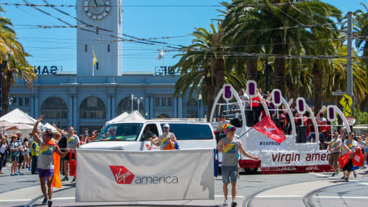 Virgin America served as the official airline of San Francisco Pride for the eighth year in a row.