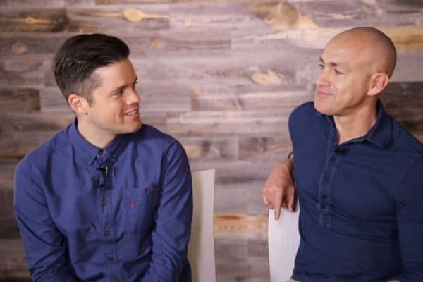 Rich Pierson and Andy Puddicombe, co-founders of HEADspace.