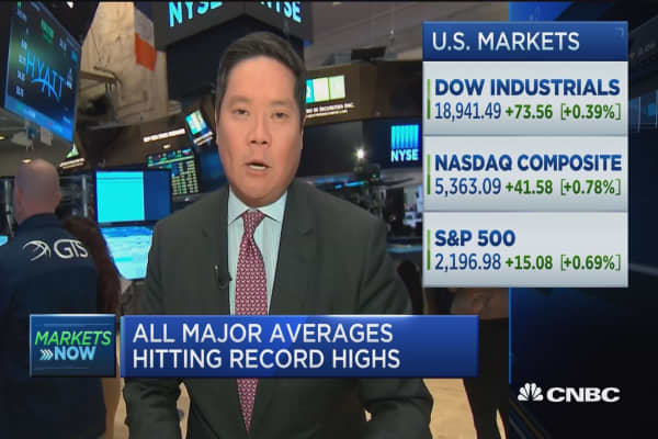 All major averages hitting record highs