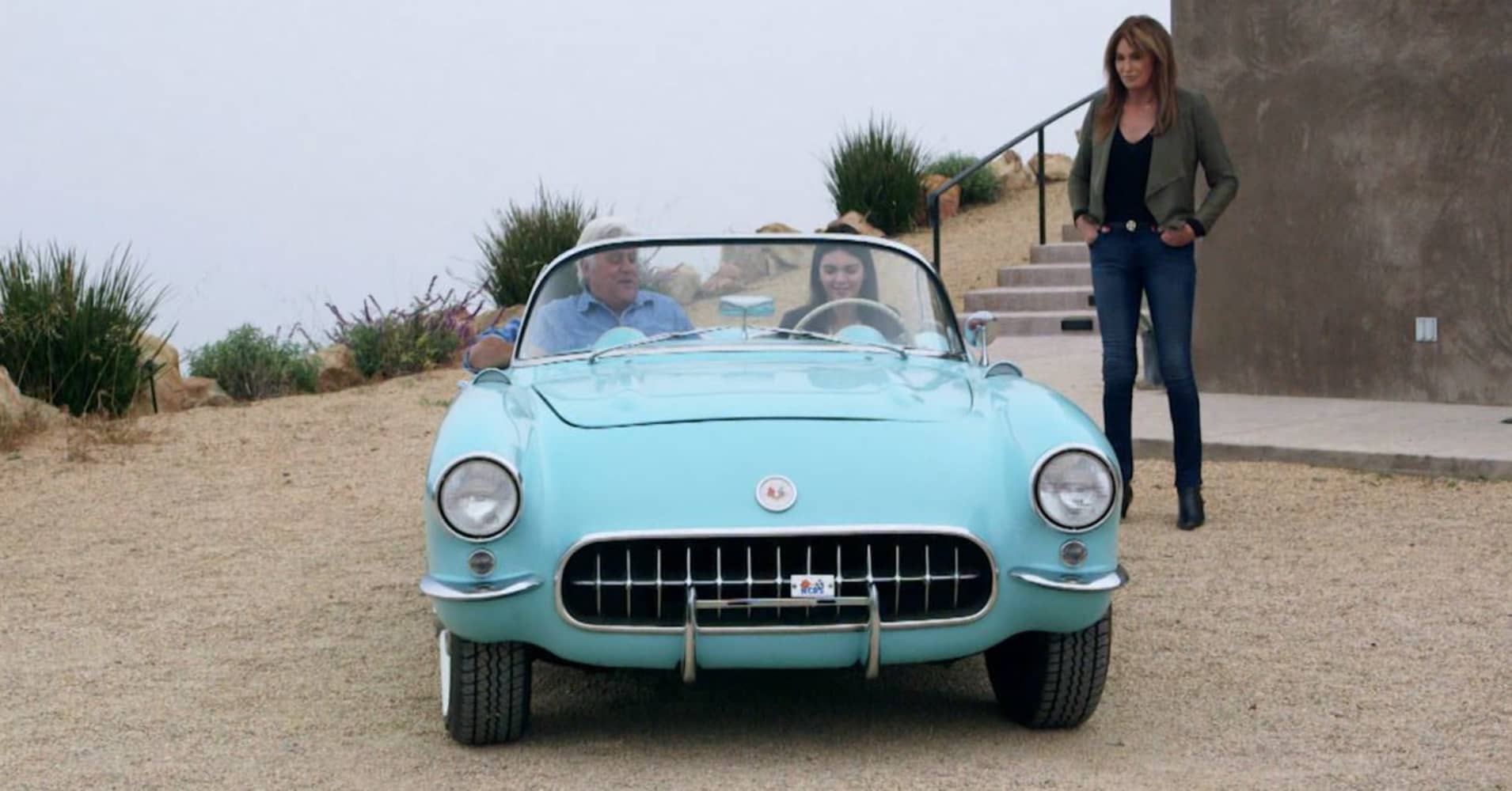 Supermodel Kendall Jenner takes Jay Leno for a spin in her