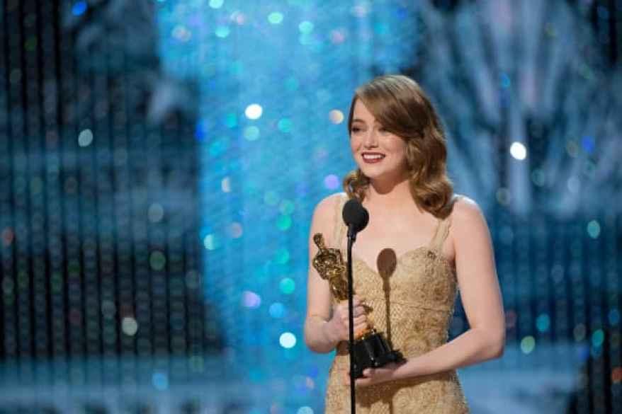 Emma Stone se llevó el premio a la mejor actriz en los Oscars de 2017 por su actuación en La La Land