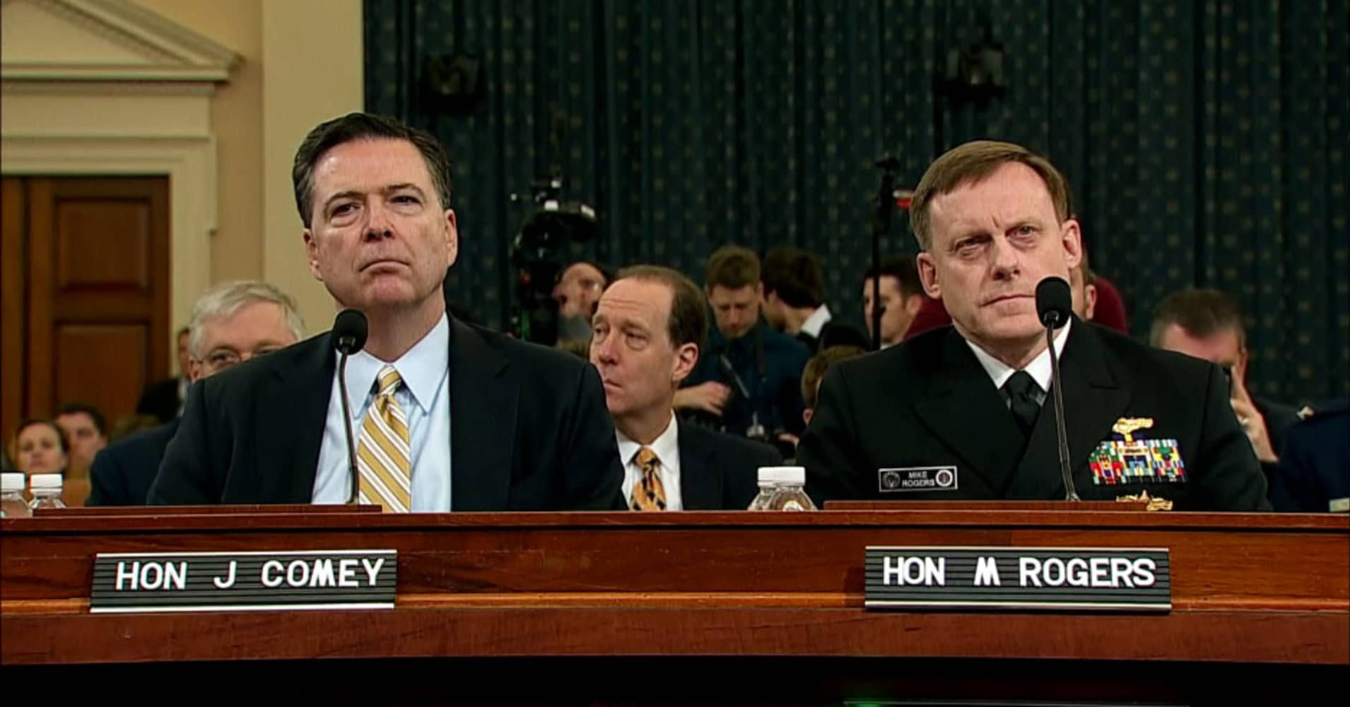 Image result for photos of comey and rogers