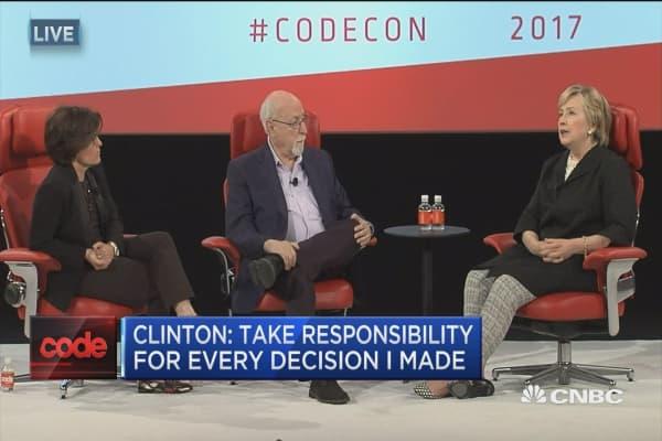 Clinton: I take responsibility for every decision I made