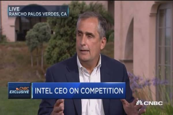 Intel CEO: Growth areas are growing double digits