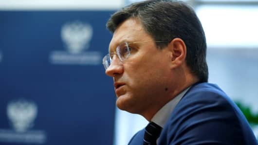 Russia's Energy Minister Alexander Novak said the oil market is likely to move into balance by the first quarter of 2018.