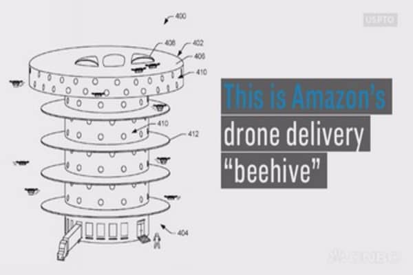 This giant Amazon beehive drone warehouse could pop up in