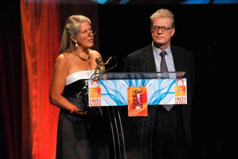 Autor Jill Bolte Taylor y el educador Sir Ken Robinson hablan en los Premios de Libertad 2008, celebrada en la Universidad del Sur de California el 15 de septiembre de 2008 en Los Ángeles, California.