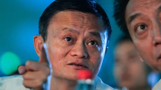 Jack Ma, founder of the Alibaba Group attends the 2017 forum on rural headmasters on July 12, 2017 in Hangzhou, Zhejiang province of China.