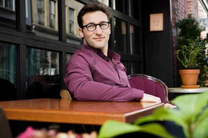 "Simon Sinek, autor de best-sellers, orador y autodeclarado ""optimista inquebrantable""."